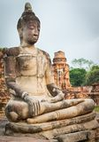 Buddha statue in Wat Mahathat. Stock Photos