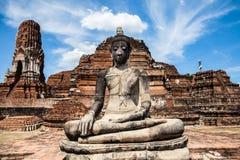Buddha statue at Wat Mahathat. Ayutthaya, Thailand royalty free stock image