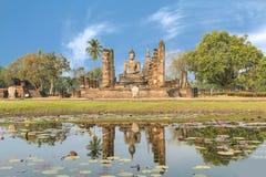 Buddha Statue at Wat Mahathat in Sukhothai Historical Park, Sukh Royalty Free Stock Photos