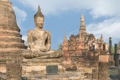 Buddha Statue at Wat Mahathat in Sukhothai Historical Park, Sukh Royalty Free Stock Images