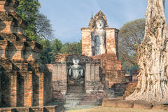 Buddha Statue at Wat Mahathat in Sukhothai Historical Park,Thail Stock Image