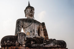 Buddha Statue in Wat Mahathat Temple Stock Photos