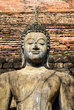 Buddha statue in Wat Mahathat temple. Sukhothai Historical Stock Image