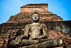 Buddha statue in Wat Mahathat temple. Sukhothai Historical Stock Photos