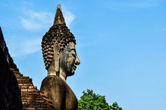 Buddha statue in Wat Mahathat temple. Sukhothai Historical Stock Photo