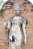 Buddha Statue in Wat Mahathat Temple in Sukhothai Historical par Royalty Free Stock Photos