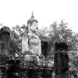 Buddha Statue in Wat Mahathat Temple in Sukhothai Historical par Stock Photography