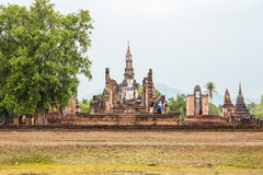 Buddha Statue in Wat Mahathat Temple Stock Image