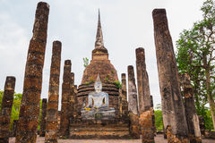 Buddha Statue in Wat Mahathat Temple Stock Photography