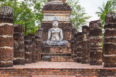Buddha Statue in Wat Mahathat Temple Royalty Free Stock Photo