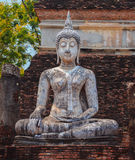 Buddha statue in Wat Mahathat temple, Sukhothai Historical Park Royalty Free Stock Photo