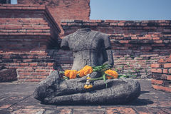 Buddha statue at Wat Mahathat Royalty Free Stock Images