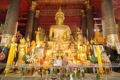 Buddha statue in Wat Mai,  Luang Prabang Stock Image