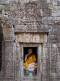 Buddha statue in Wat Nokor Royalty Free Stock Images