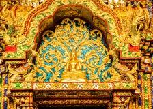 Buddha statue Wat Pha Baht Si Roi, chiangmai Thailand Stock Photos