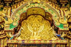 Buddha statue Wat Pha Baht Si Roi, chiangmai Thailand Stock Photo
