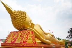 Buddha statue at Wat Pha That Luang Stock Photography