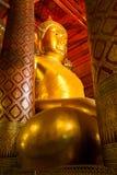 Buddha statue in wat Phananchoeng Royalty Free Stock Photos