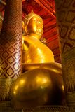 Buddha statue in wat Phananchoeng Royalty Free Stock Photos