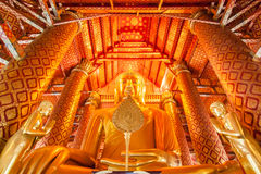 Buddha statue. At wat phananchoeng, thailand Stock Photography