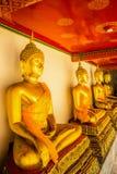 Buddha statue at wat pho depth Royalty Free Stock Photos