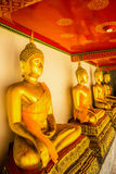 Buddha-Statue an wat pho Tiefe Lizenzfreie Stockfotos
