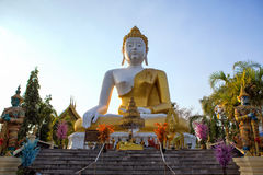 Buddha statue Wat Phra That Doi Kham at Chiang Mai,Thai temple N Stock Images