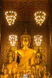 Buddha statue in Wat Phra That Hariphunchai, Lamphun province Royalty Free Stock Images