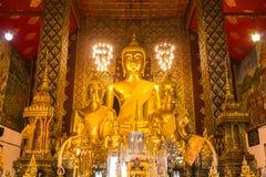 Buddha statue in Wat Phra That Hariphunchai, Lamphun province Stock Photo