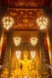 Buddha statue in Wat Phra That Hariphunchai, Lamphun province, n Stock Image
