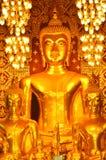 Buddha statue in Wat Phra Haripunchai Stock Photos