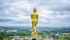 Buddha statue at Wat Phra That Khao Noi, Nan, Thailand on June royalty free stock photos