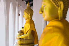 Buddha statue at Wat Phra Pathom Chedi Stock Photo
