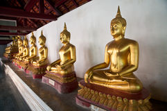 Buddha statue in Wat Phra Si Rattana Mahathat temple Stock Photography