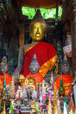 Buddha statue in Wat Phu Champasak Royalty Free Stock Photos