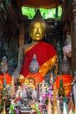 Buddha statue in Wat Phu Champasak Royalty Free Stock Photos