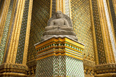 Buddha statue in Wat pra kaew Grand palace bangkok. Stock Photography