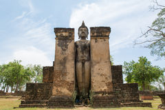Buddha statue. The Buddha statue at Wat Pra Prang ,Si Satchanalai historical prak Royalty Free Stock Photos