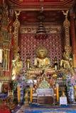 Buddha statue at Wat Pra singha Royalty Free Stock Images
