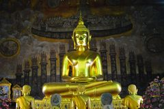 Buddha statue at Wat Rakang Bangkok Royalty Free Stock Photography