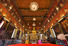 Buddha statue at Wat Saket temple, Travel Landmark of Bangkok Stock Photo
