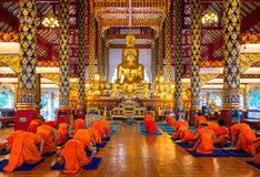 Buddha statue in wat suan dok Stock Images