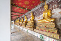Buddha statue at Wat Suthat, Bangkok Thailand Stock Images
