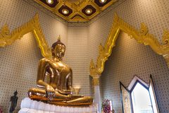 Buddha statue at Wat Traimit temple Royalty Free Stock Images