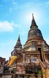 Buddha statue in Wat yai chai mong kol temple of Thailand. Royalty Free Stock Photos
