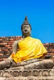 Buddha Statue  Wat Yai Chai Mongkhon Ayutthaya Bangkok Thailand Stock Photography