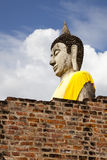 Buddha statue in wat yai chai mongkol Royalty Free Stock Photos
