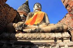 Buddha statue,Wat Yai Chai Mongkol Stock Photo