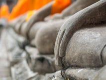 Buddha statue in Wat Yai Chai Mongkol Stock Images