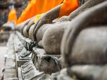 Buddha statue in Wat Yai Chai Mongkol Stock Photography